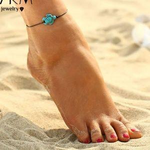 Vibrant Adorable Turtle Anklet Bracelet Hypoallerg
